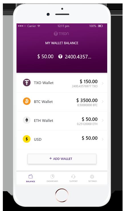 Treon (TXO) ICO это токен за коммунальные услуги платежи App-ui6